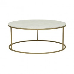 Elle Round Coffee Table- 950 Dia x H400mm- Globewest- Brushed Gold-