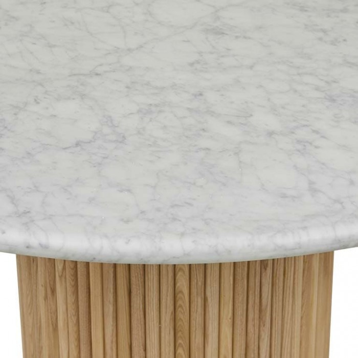 Benjamin Ripple Marble Dining Table-1200 Dia x H750mm-Globewest-DT-BEN-RIP-4S-ASH/MTWH