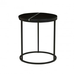Elle Round Side Table- 450 Dia x H520 mm- Globewest - Matt Black-
