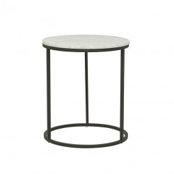 Elle Round Side Table- 450 Dia x H520 mm- Globewest - Black-