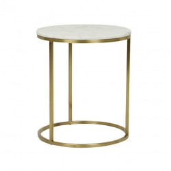 Elle Round Side Table- 450 Dia x H520 mm- Globewest - Brushed Gold