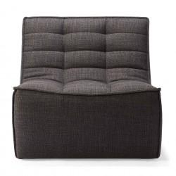 Ethnicraft Sofa N701 – 1 seater Dark grey-Ethnicraft