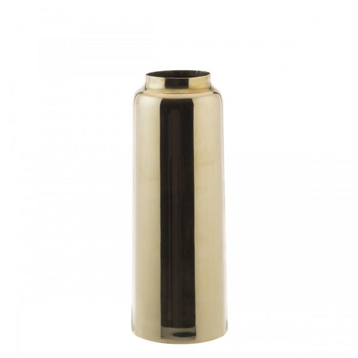 Polished brass bottle vase-DZ9ZK01-030-S-BRA
