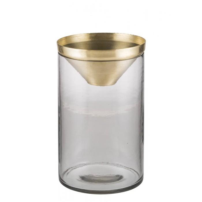 Botanical Vase - Large Brass-DZ24ZK170203010LBRS