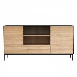 Ethnicraft Oak Blackbird Sideboard - 3 Doors 2 Drawers 180 x 45 x 90Cm