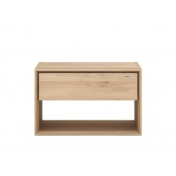 Ethnicraft Oak Nordic 1 Drawer Bedside Table 57/40/55-Ethnicraft