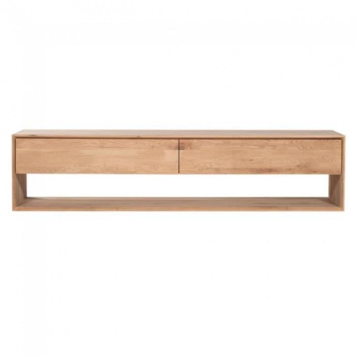 Ethnicraft Oak Nordic 1 Door 1 Drawer TV Unit 180Cm-51440