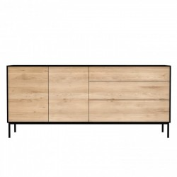 Ethnicraft Oak Blackbird Sideboard - 2 Door  3 Drawers 180 x 45 x 80