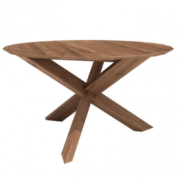 Ethnicraft Teak Circle Dining Table 163 x 76cm-10164