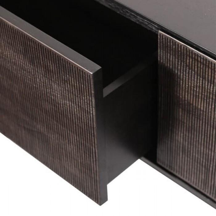 Ethnicraft Teak Grooves TV cupboard - 1 flip down door - 1 drawer 162Cm-12255