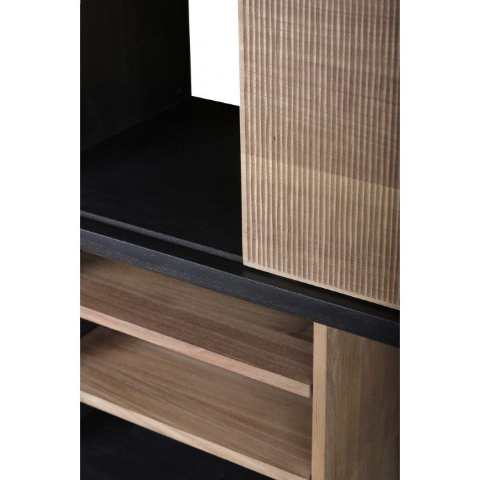 Ethnicraft Teak Oscar rack - 5 sliding doors 120/40/195-10144