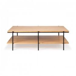 Ethnicraft Oak Rise coffee table, 120/70/37