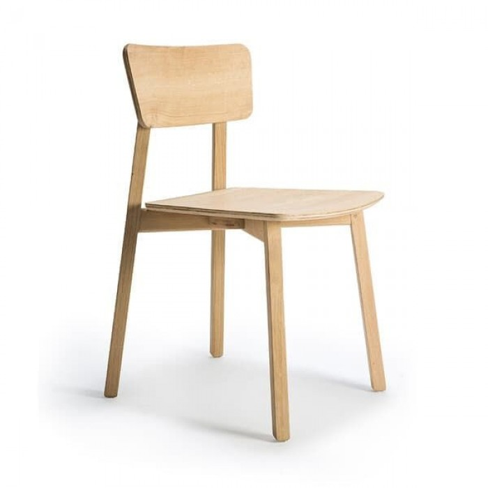 Ethnicraft Oak Facette Dining Chair-50653