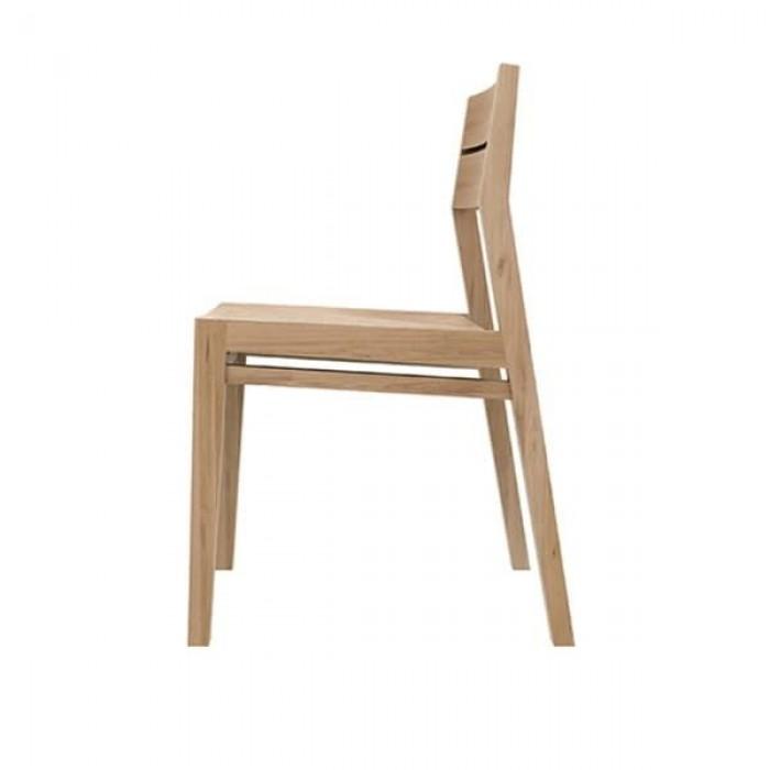 Ethnicraft Oak EX-1 dining chair 43/56/82-50657