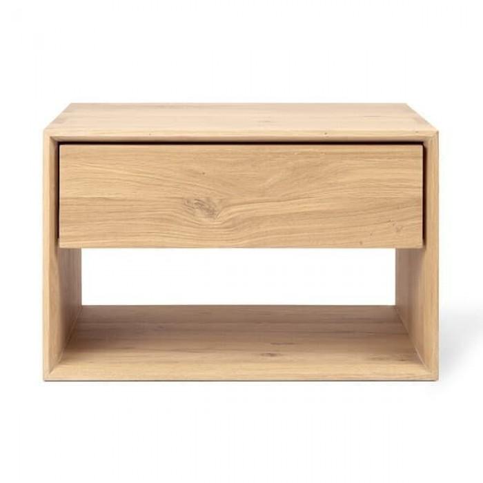 Ethnicraft Oak Nordic nightstand - 1 drawer 57/40/37-51175