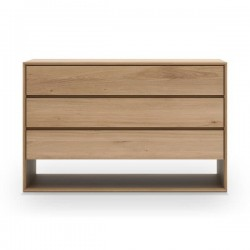 Ethnicraft Oak Nordic chest of drawers - 3 drawer 130/56/83-Ethnicraft