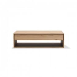 Ethnicraft Oak Nordic coffee table - 1 drawer 120/70/35