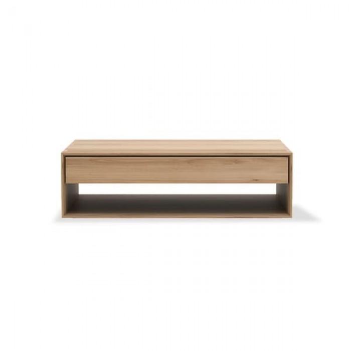 Ethnicraft Oak Nordic coffee table - 1 drawer 120/70/35-51445