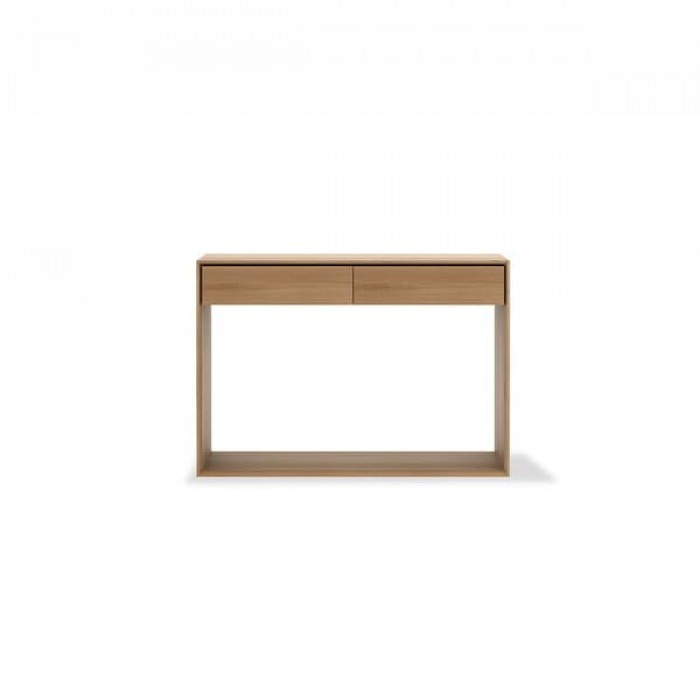 Ethnicraft Oak Nordic console - 2 drawers 120/40/85-51447