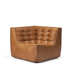 Ethnicraft N701 SOFA – CORNER Old saddle