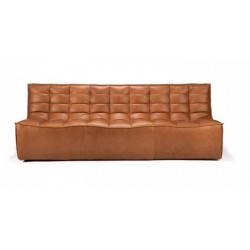 Ethnicraft  Sofa N701 – 3 seater Old saddle