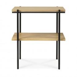 Ethnicraft Oak Rise side table, 50/30/55