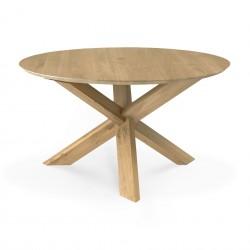 Ethnicraft Oak Circle Dining Table 136Cm-Ethnicraft