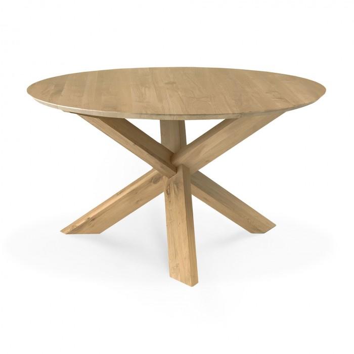 Ethnicraft Oak Circle Dining Table 136Cm-50165