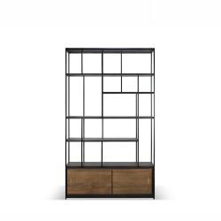 Ethnicraft Teak Studio rack - 2 sliding doors 120/40/205