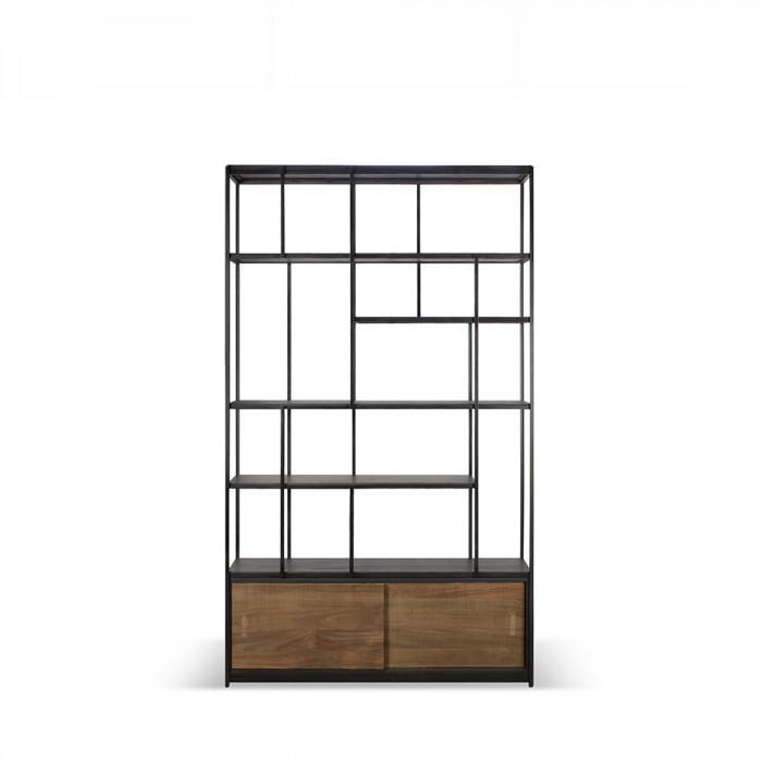 Ethnicraft Teak Studio rack - 2 sliding doors 120/40/205-10082