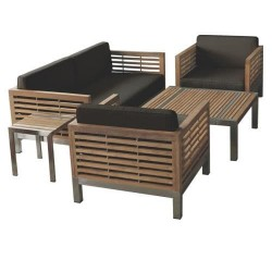 TEAK STRIPE III Lounge bench, teak SS 184/80/72-Daelce and Zo