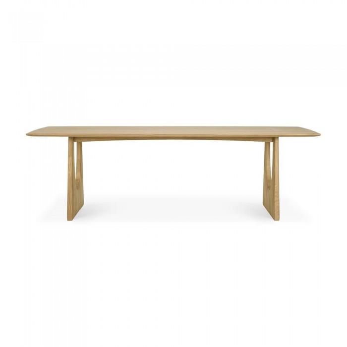 Ethnicraft Oak Geometric dining table 250 x 100cm-55013