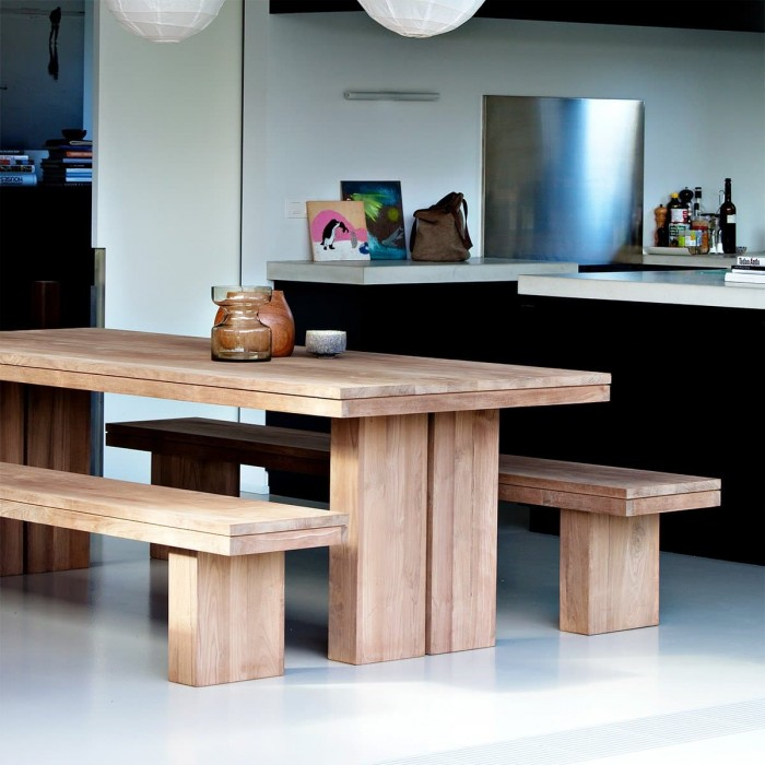 Ethnicraft Teak Double Dining Table 180/90/76-12067