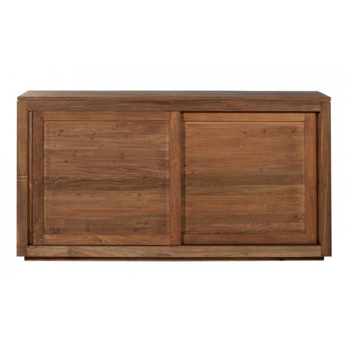 Teak Pure sideboard - 2 sliding doors 150/47/80-11140