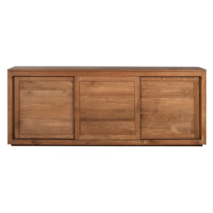 Teak Pure sideboard - 3 sliding doors 200/47/80-Ethnicraft