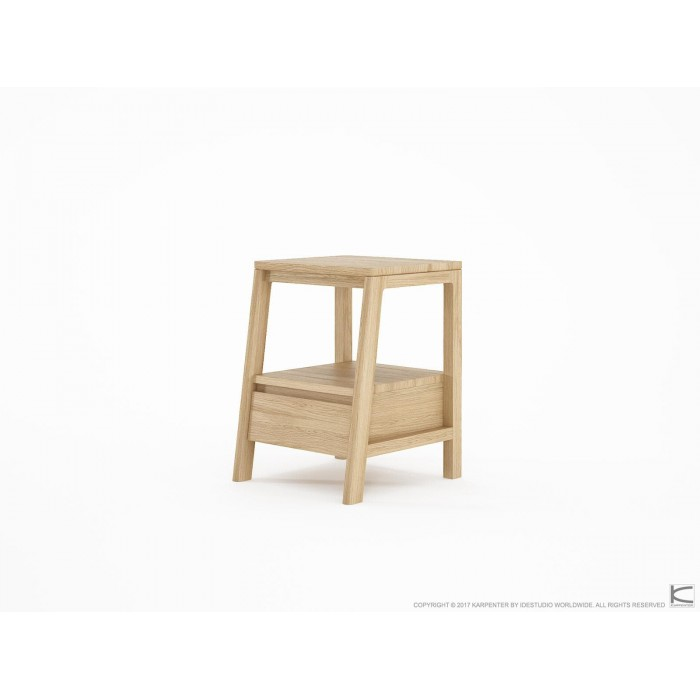Circa Side Table with Drawer - European Oak