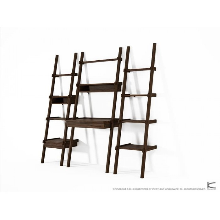Simply City Ladder Shelves with Niches - American Walnut