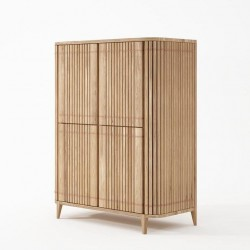 Koppar Cupboard with 4 Doors - European Oak