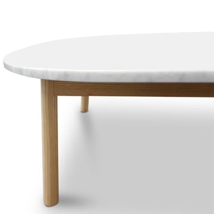 Hamilton Marble Coffee Table - Natural Base-CF2012-SD