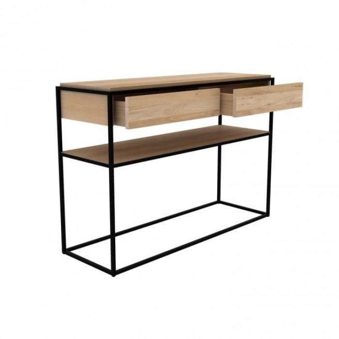 Ethnicraft Oak Monolit console - Black Oak Black Frame-26873