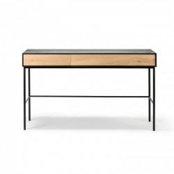 Ethnicraft Oak Blackbird desk, 2 drws, 12741/75-Ethnicraft
