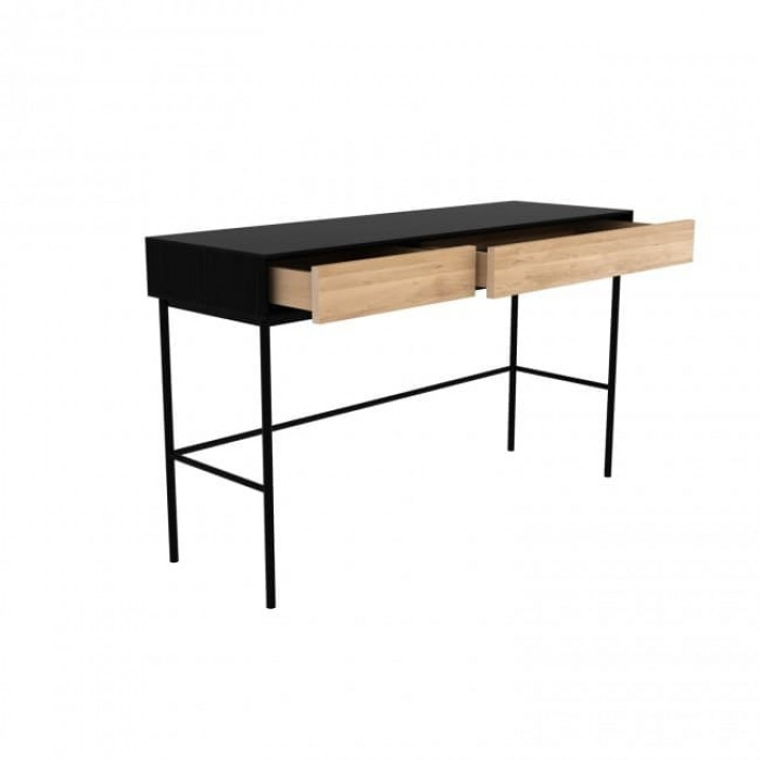 Ethnicraft Oak Blackbird Desk - 2 Drawers-51478