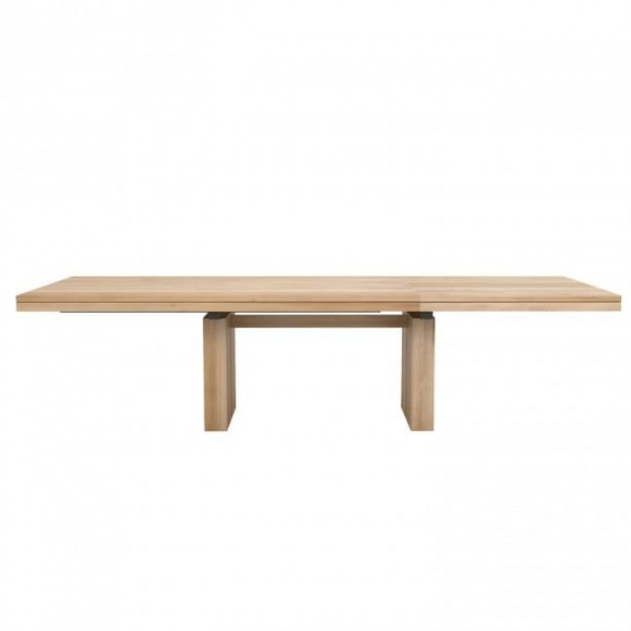 Ethnicraft Oak Double Extendable Dining Table-52066