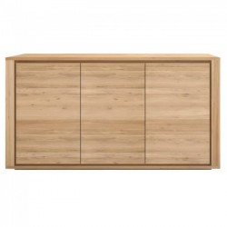 Ethnicraft Oak Shadow 3 Doors Sideboard 156Cm-Ethnicraft