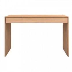 Ethnicraft Oak Wave Office Console desk - 1 drawer  120/60/78-Ethnicraft