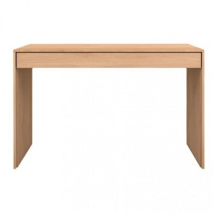 Ethnicraft Oak Wave Office Console desk - 1 drawer  120/60/78-51456