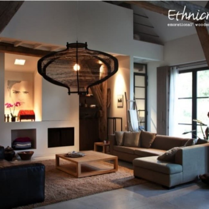Ethnicraft Teak Duplex Side Table 55cm-13995