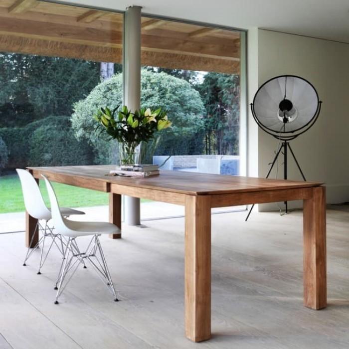 Ethnicraft Teak Slice Extension Dining Table 160cm-11943
