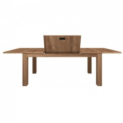 Ethnicraft Teak Stretch Extension Dining Table 140-220/90/78