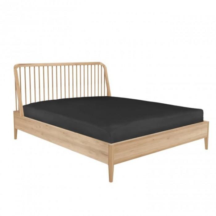 Ethnicraft Oak Spindle Queen Bed-80926